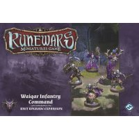 RuneWars: The Miniatures Game - Waiqar Infantry Command Unit Expansion
