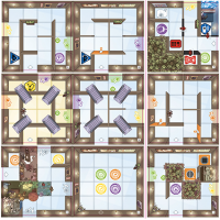 Magic Maze: 9 new tiles