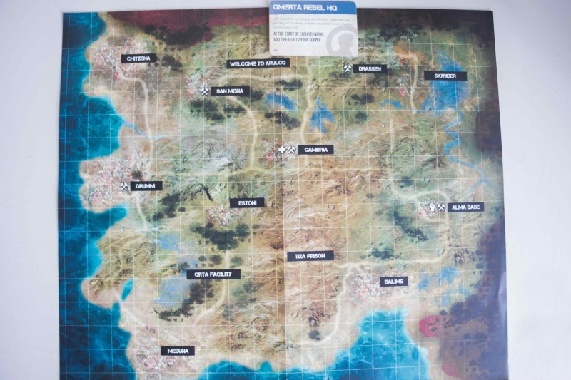 Карта Арулько. Начало кампании, г. Омерта под контролем A.I.M.