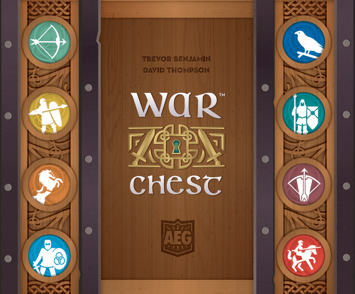 War Chest, Alderac Entertainment Group, 2018 — front cover (image provided by the publisher)