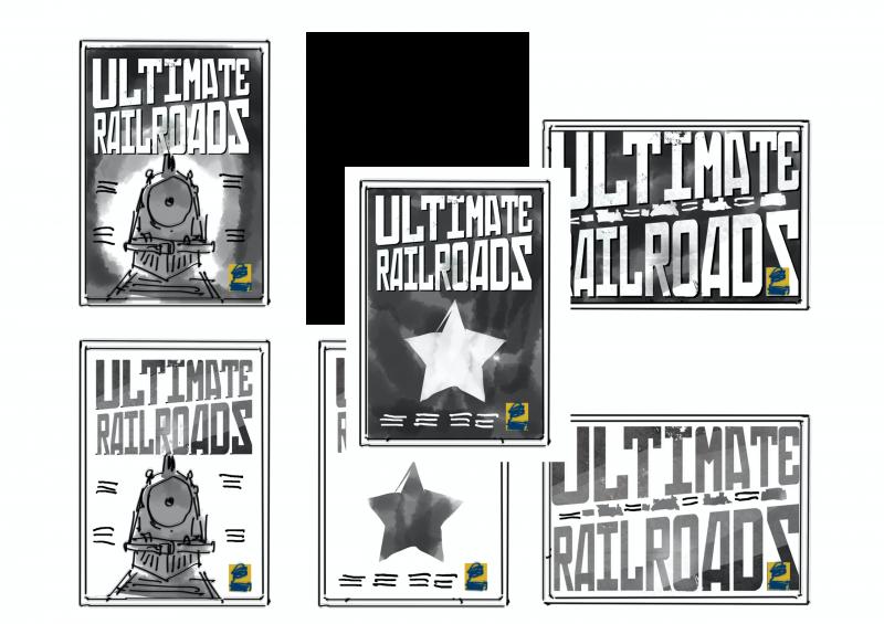 Рабочие наброски обложек для Ultimate Railroars