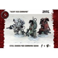 Dust Tactics: SSU Steel Guard NCO Command Squad «Heavy Red Command»