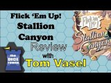 Dice Tower Reviews: Flick 'em Up! Stallion Canyon