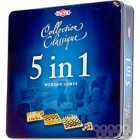 5 in 1 wooden games collection classique